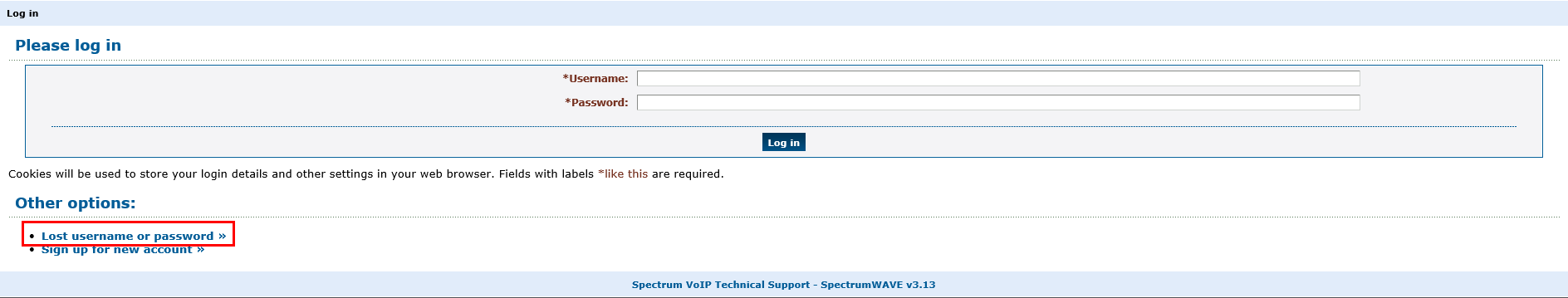 Finding and Resetting your Enswitch Portal Login – SpectrumVoIP Support