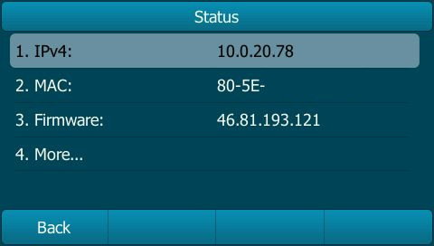Finding the IP Address, MAC Address, or Firmware version of
